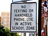 No Texting in School Zone