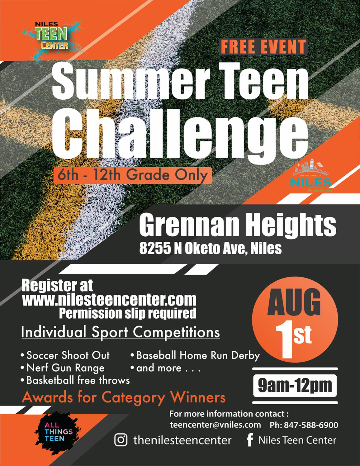 Summer Teen Challenge Flyer JPEG