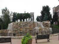 Niles Veteran Memorial Waterfall