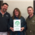 Local and state staff present the award of Tree City USA
