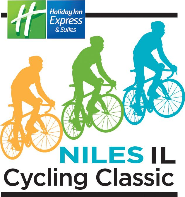 Logo for the 2017 Niles Cycling Classic, including logo of sponsor Holiday Inn Express & Suites and
