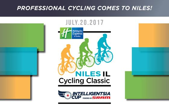 Advertisement for the Niles Cyclinc Classic on July 20 at Oak Park.