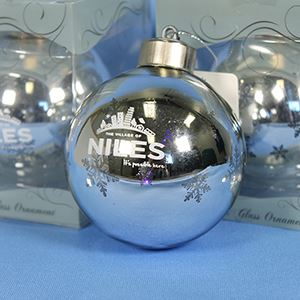 Silver light-up Niles ornament