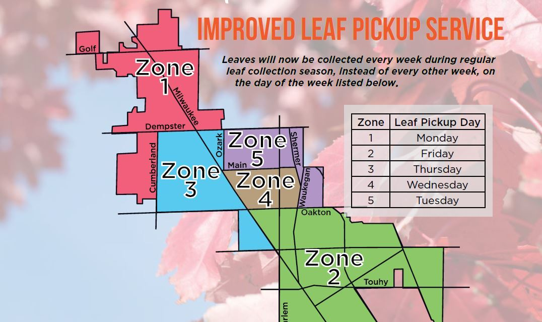 2018 Leaf Pickup Map