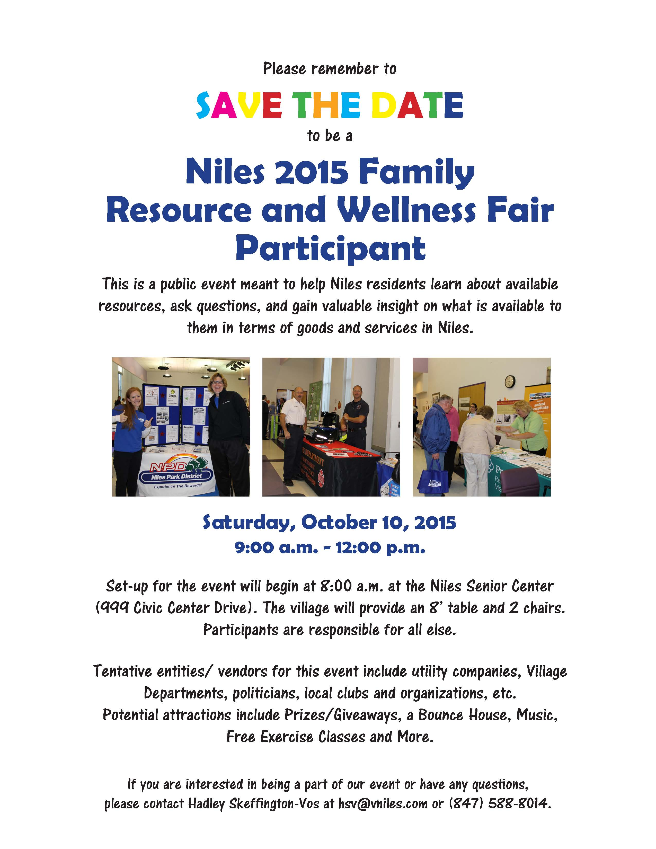 Family resource and wellness fair niles il official website