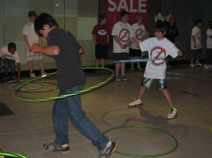 10:30 p.m. - Hula Hoop contest with the DJ