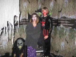 "Debra, Mike, and Liam in ""Hell Room"""
