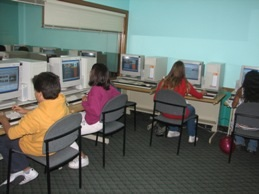 Teens in Computer Lab